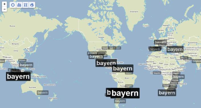 Impacto del termino Bayern en otros puntos del planeta